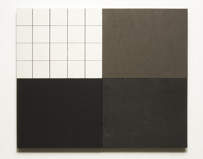 . Black and White Grid with Gray Plasterboard