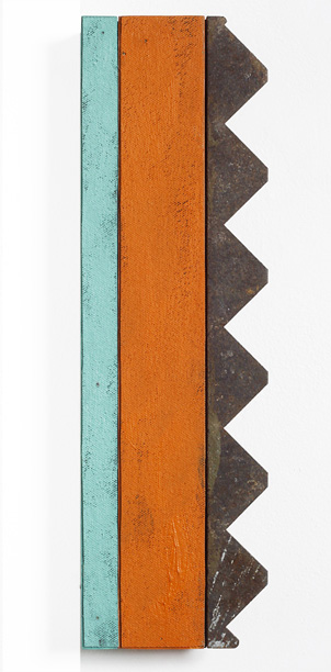 Orange and Blue-Green with Metal Zigzag